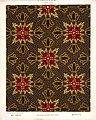 George Harrison and Co (Bradford) -Linoleum, 2 yards wide. (Victorian formal mosaic floral pattern). No. 145-3. Pattern shown half size. (1880s?) (21502748929).jpg