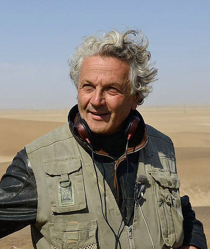 George Miller while filming Fury Road (cropped)