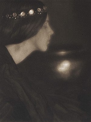 "Pictorialism - ""The Black Bowl"", by George Seeley, circa 1907. Published in Camera Work, No 20 (1907)"