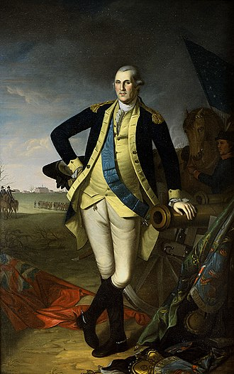 Princeton Battle Monument - Washington at Princeton by Charles Willson Peale (1779)