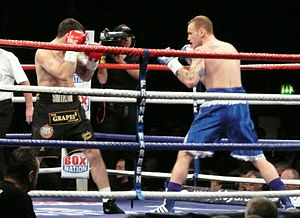 George Groves (boxer) - Groves (right) vs. Paul Smith, 2011