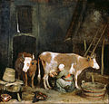 Gerard ter Borch (Dutch - A Maid Milking a Cow in a Barn - Google Art Project.jpg