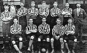 1894–95 New Brompton F.C. season - The New Brompton team pictured before the first match of the season. Back row, left to right: Ashdown, Carr (referee), Jenner, Pellatt, James, Meager, Auld, Murray (trainer). Front row: Manning, Buckland, Hutcheson, Rule, Dickenson