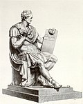 Engraving of Canova's statue of Washington