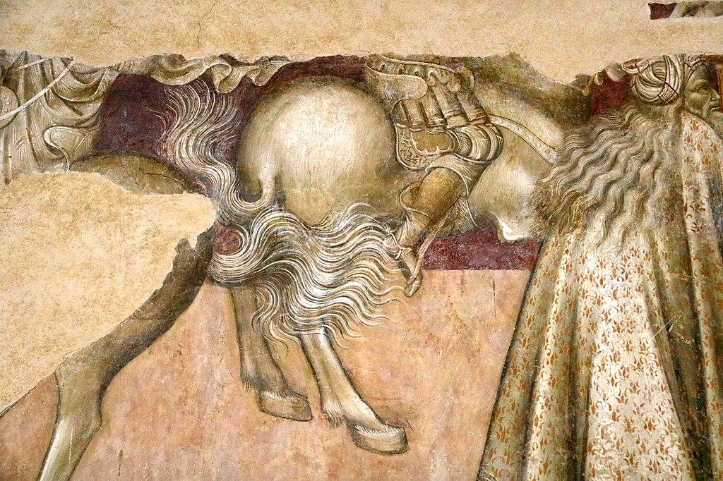 Giovanni di Paolo, Crocifissione, affresco, San Leonardo al Lago, Siena (dettaglio)