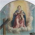 Girolamo Dai Libri - Madonna della quercia - 1533 after - Museo Castelvecchio, Verona (ITALY) crop Sacra Conversazione Madonna Child Nude baby Jesus clouds.jpg