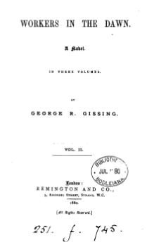 Gissing - Workers in the Dawn, vol. II, 1880.djvu