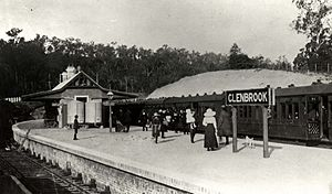 Glenbrook railway station - Historical view of the station
