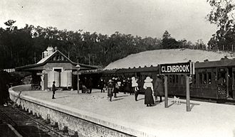 Glenbrook railway station, New South Wales - Historical view of the station
