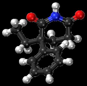 Glutethimide - Image: Glutethimide ball and stick model
