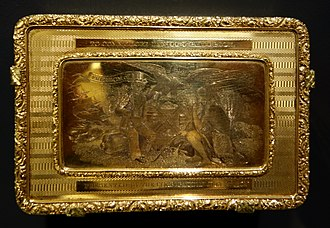 Freedom of the City - Gold New York City 'Freedom of the City Box' presented to Commodore Daniel Patterson, made by Jonathan Wilmarth, John L. Moffat, and Joseph Curtis, 1832