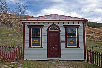 Otago Gold Rush - Gold office of the Bank of New South Wales, St. Bathans, Central Otago