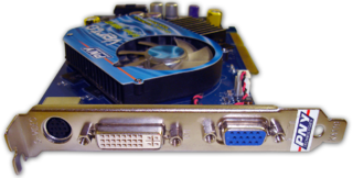 Video card expansion card which generates a feed of output images to a display