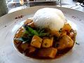 Gréoux-les-Bains Restaurant les Alpes calamars au piment d'Espelette.JPG