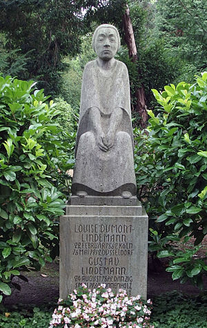 Louise Dumont - Gravestone of Louise Dumont and Gustav Lindemann, Nordfriedhof Düsseldorf
