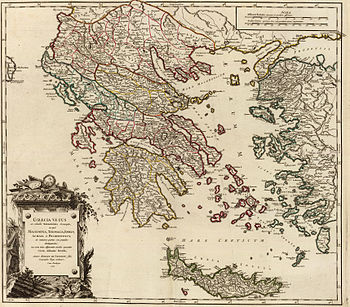 Map of Ancient Greece, Graecia Vetus (Macedoni...