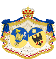 Grand Coat of Arms of Julie Clary Queen Consort of Naples.svg