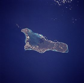 Image satellite de Grand Cayman.