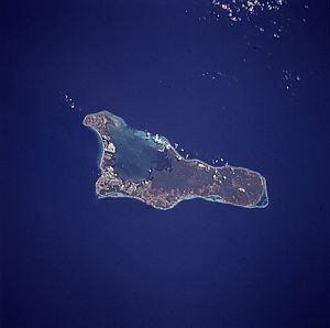 Satellitenbild von Grand Cayman