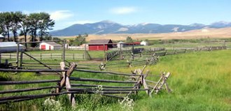 Ranch - View of the Grant-Kohrs Ranch near Deer Lodge, Montana, USA.