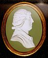 Granville Leveson-Gower, Marquis of Stafford, modeling attributed to William Hackwood, c. 1782, green jasper, white relief - Wedgwood Museum - Barlaston, Stoke-on-Trent, England - DSC09560.jpg
