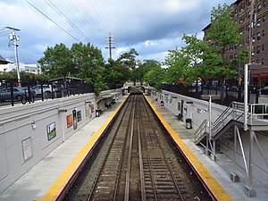 Great Neck LIRR Station View From Overpass.jpg