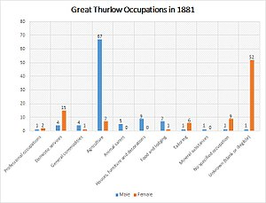 Great Thurlow - Image: Great Thurlow Occupation Bar Graph