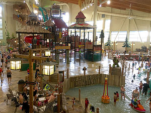Great Wolf Resorts - Interior of a Great Wolf Lodge in Grand Mound, Washington