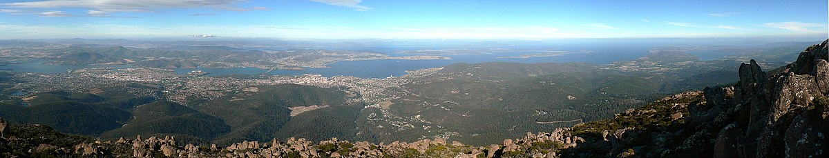 Greater Hobart area from Mt. Wellington