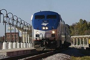 J. Douglas Galyon Depot - Image: Greensboro Amtrak Carolinian