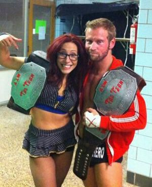 Veda Scott - Scott, with Gregory Iron as the AIW Tag Team Champions.