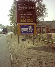 Border crossing between Germany and The Netherlands