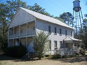 National Register of Historic Places listings in Gadsden County, Florida - Image: Gretna FL School House and watertower 01