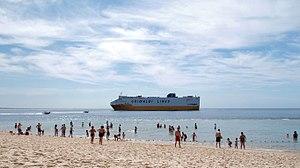Grimaldi Group - Grimaldi Lines ship Grande Europa heading for Setúbal