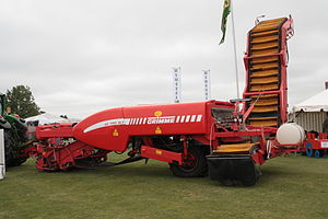 East of England Agricultural Society - Grimme GZ 1700 DL 1 potato harvester on display at the East of England Show, 2010