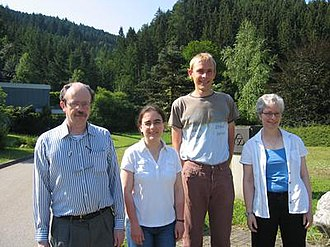 Pamela Gorkin - From left: Raymond Mortini, Sophie Grivaux, Frederic Bayart, and Pamela Gorkin, 2006 at the MFO