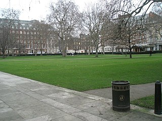 Grosvenor Square square in the Mayfair district of London, England