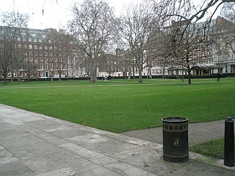 Grosvenor Square - The central garden, now a public park