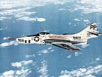 Grumman F9F-8P Cougar of VFP-61 in flight c1957.jpg