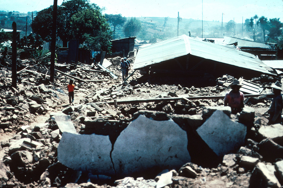 Image result for severe earthquake in guatemala and honduras in 1976