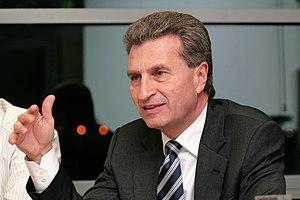 Günther H. Oettinger, prime minister of Baden-...