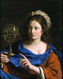 Personificazione dell'Astrologia (ca. 1650-1655), olio su tela del Guercino.