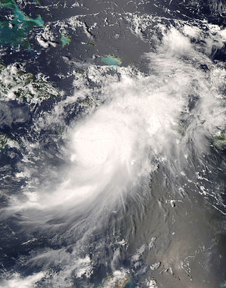 Hurricane Gustav - Hurricane Gustav making landfall in Haiti on August 25