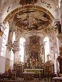 Gutenzell Kloster Gutenzell St. Kosmas & Damian Innen Chor 1.jpg