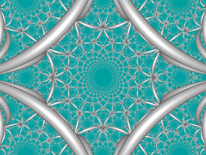 Order-4 square tiling honeycomb - Image: H3 444 FC boundary
