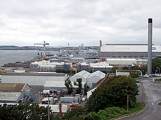 Economy of Devon - View of HMNB Devonport, the naval base in Plymouth
