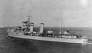 HMS Blanche (H47) - Image: HMS Blanche (H47) IWM FL 2352