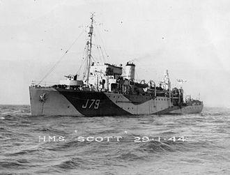 Northern Barrage - Image: HMS Scott FL18808