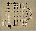 HUA-214426-Plattegrond van de Domkerk te Utrecht met indeling weergave van gewelven en aanduiding van een aantal kapellen.jpg