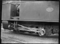 """H class steam locomotive, NZR 202, 0-4-2T type, for use on the Fell system on the Rimutaka Incline. Closeup view of the Stephenson link motion on the """"outside engine"""". ATLIB 278985.png"""